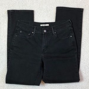 Levi's black 505 Straight Leg jean